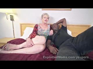 older lady in creampie interracial movie