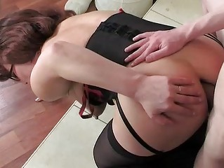 mama wearing nylons for her anal workout