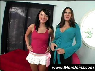 hot brunette hair mama and daughter team shelia