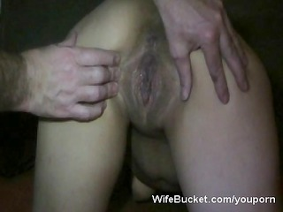 slutty wife acquires a large creampie