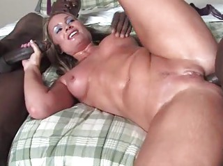 blond mature does anal with blacks