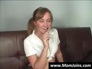 breasty redhead mommy gives her lollipop