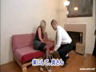 beautiful mature golden-haired wife coercive by